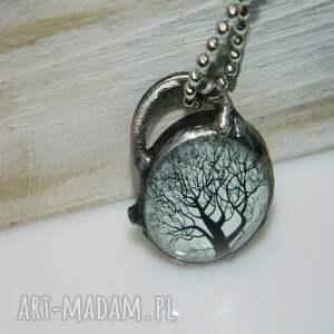 unikalna-biżuteria wisiorki szklany wisior-drzewo