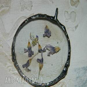 wisior wisiorki fioletowe szklany
