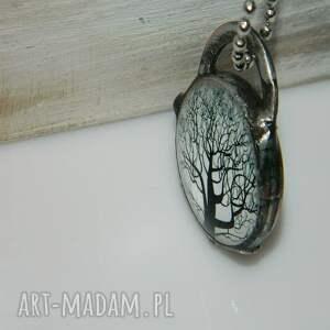 niebanalne wisiorki unikalna-biżuteria szklany wisior-drzewo