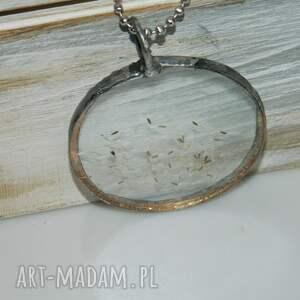 wisior wisiorki srebrne szklany witraż-dmuchawce