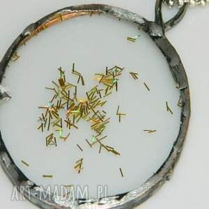 wyraziste wisiorki szklany witraż