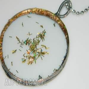 srebrne wisiorki wisior szklany witraż