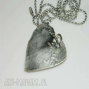 ręcznie zrobione wisiorki serce turkusowe