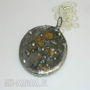 wisiorki medalion turkusowy