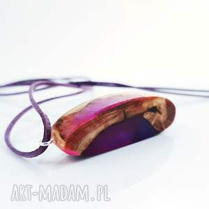 handmade wisiorki naszyjnik wisior amethyst nebula