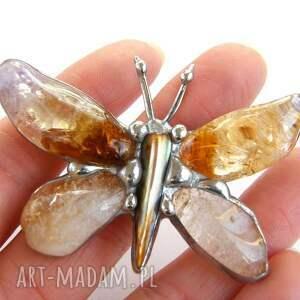 srebrne wisiorki naszyjnik wisior: cytrynowy motyl