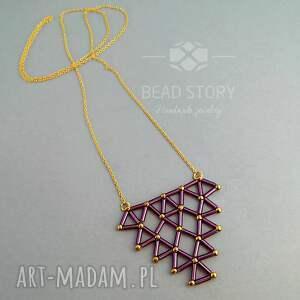 rurki wisiorki wisior geometryczny fioletowy