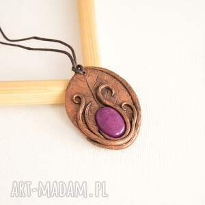 wisior wisiorki fioletowe inspirowany naturą