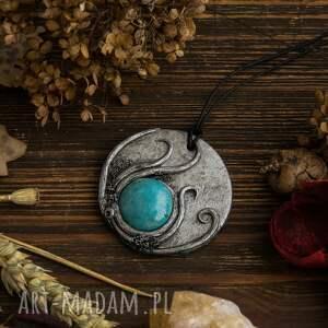 ceramika wisiorki turkusowe wisior inspirowany naturą