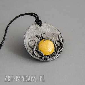 wisiorki wisior medalion z ceramiką