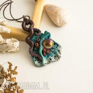 gustowne wisiorki wisior kolorowy inspirowany naturą z motywem