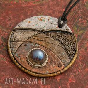 wisior wisiorki niebieskie steampunkowy blue eye