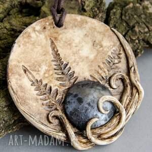 wisior wisiorki srebrne z odciskiem paproci