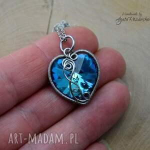 niebieskie wisiorki wisiorek z sercem swarovski xilion heart 18mm