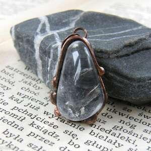 handmade wisiorki wisiorek kryształ zawieszka w formie kamiennej, nieregularnej