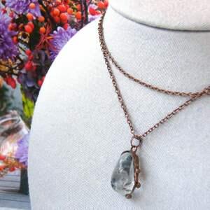 handmade wisiorki kryształ górski wisiorek z łańcuszkiem