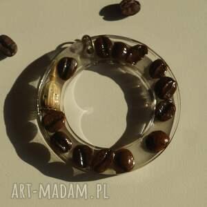 brązowe wisiorki kawa wspomnienie woltera - wisior z kawy