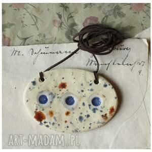 wyraziste wisiorki ceramika zestaw biżuterii nakrapianej w