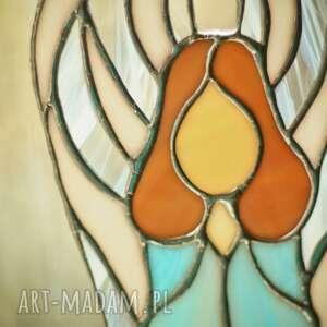 witraże anioł błękit