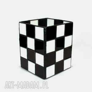 atrakcyjne witraże lampion witrażowy - chess