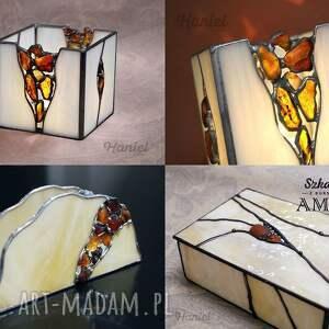 awangardowe witraże witrażowa szkatułka amber