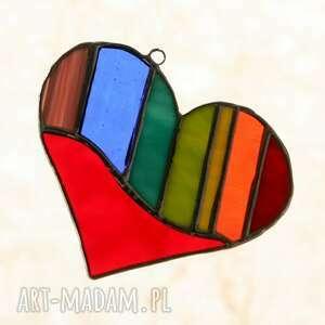 witraże serce witrażowe serduszko queer