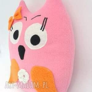 poduszka zabawki różowe sówka