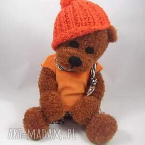pomarańczowe zabawki miś bartuś