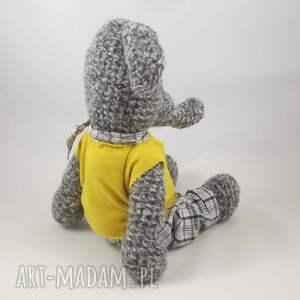 efektowne zabawki szydełkowy słoń benjamin - słonik