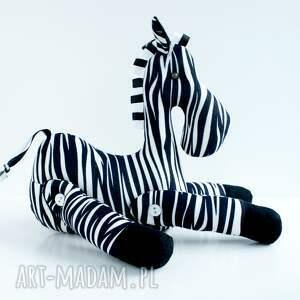 zabawki zebra brykająca przytulanka