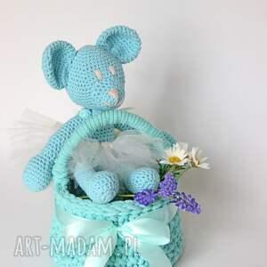 handmade zabawki miś daisy miętowa miśka