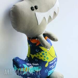 dinozaur zabawki niebieskie t-rex adaś 42 cm