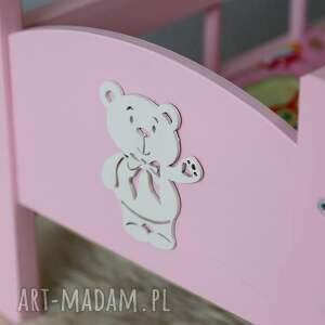 gustowne zabawki łóżeczko drewniane dla lalek