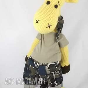 zabawki personalizacja duża szydełkowa żyrafa