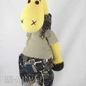 żyrafa zabawki duża szydełkowa