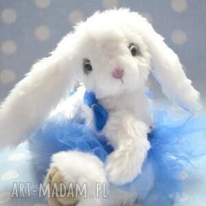 niebieskie zabawki królik hand made, królisia lola, szyta