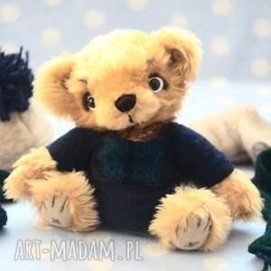 trendy zabawki maskotka hand made, miś szymuś, szyty