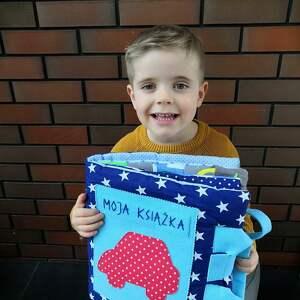 Książeczka sensoryczna Quiet book dla chłopca od 3 lat