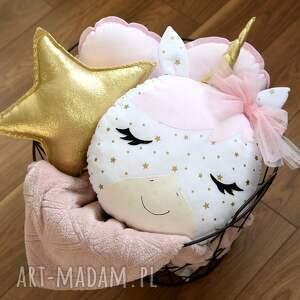 złote zabawki jednorożec różowy