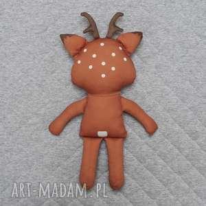 ręcznie robione zabawki jelonek przytulanka - poofy cat