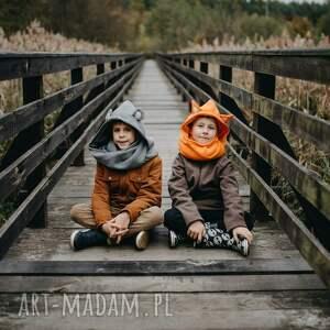 niekonwencjonalne komin z kapturem dla dziecka