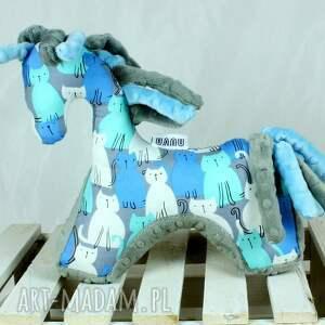 oryginalne zabawki koń blue grey- przytulanka