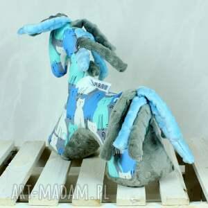turkusowe zabawki koń blue grey- przytulanka