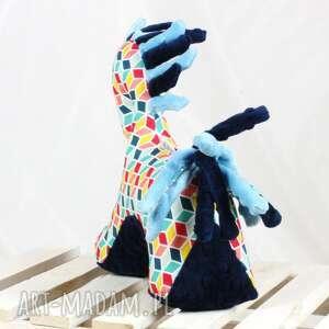 niebieskie zabawki koń etno - przytulanka sensoryczna
