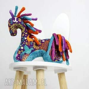 turkusowe zabawki maskotka koń turkus fiolet - przytulanka