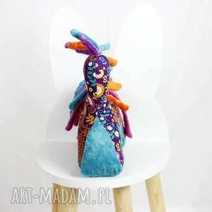 koń zabawki kolorowe turkus fiolet - przytulanka