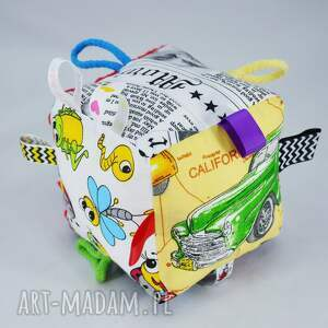 ręcznie wykonane zabawki kostka sensoryczna
