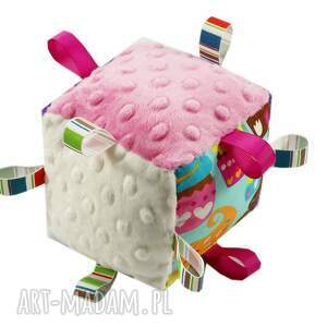 unikatowe zabawki muffiny kostka sensoryczna grzechotka, wzór