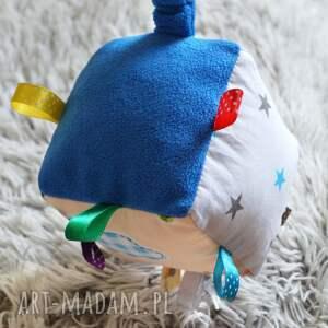 kostka zabawki niebieskie sensoryczna - rakieta