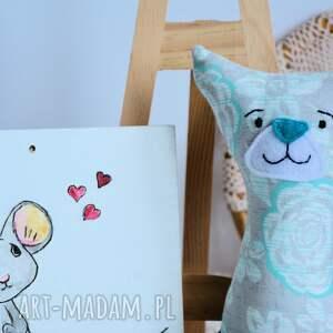 kotka zabawki turkusowe kotek dla maluszka - mruczek